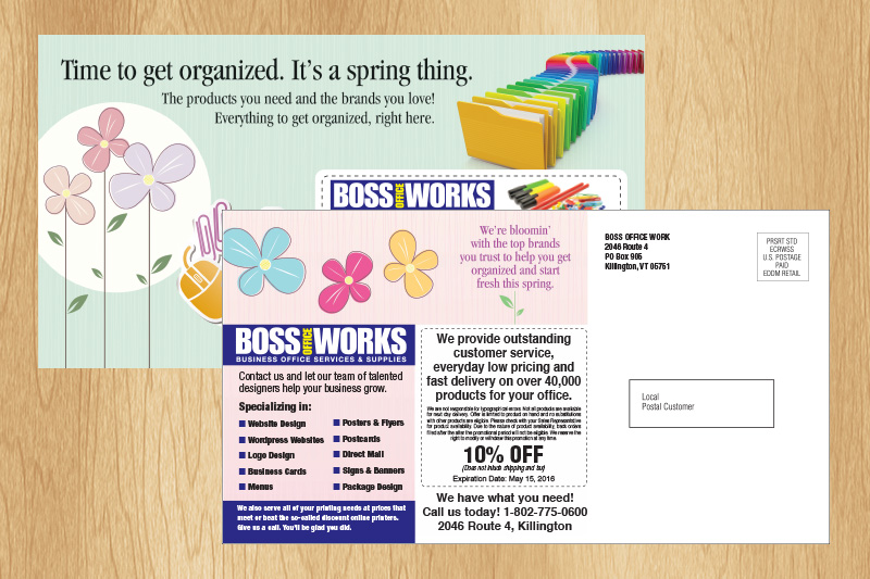 Print copy boss office works postcard printing in full color we can reheart Images